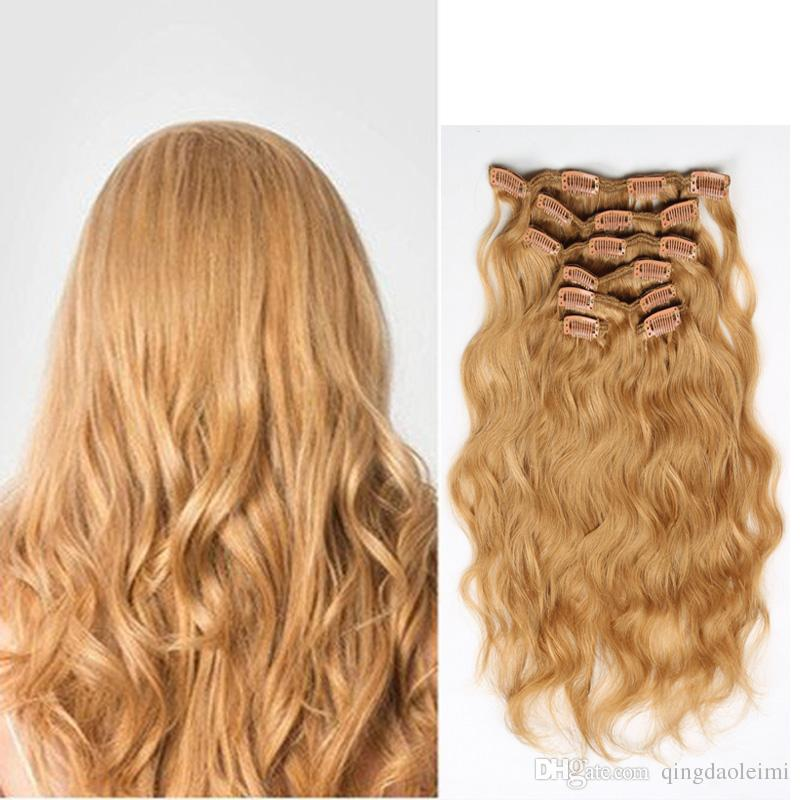 Best Quality Clip In Hair Extensions 16clips 16 26inch 27 Honey