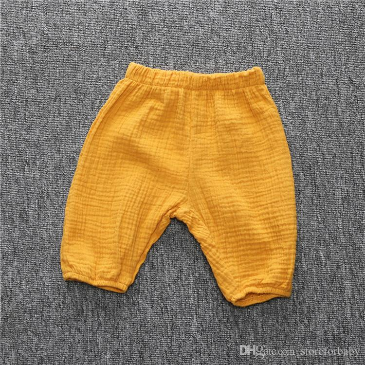 baby girl summer capris pants Cotton wide leg calf-length fashion pants harem bottoms for kids girl children clothes cheap price wholesale