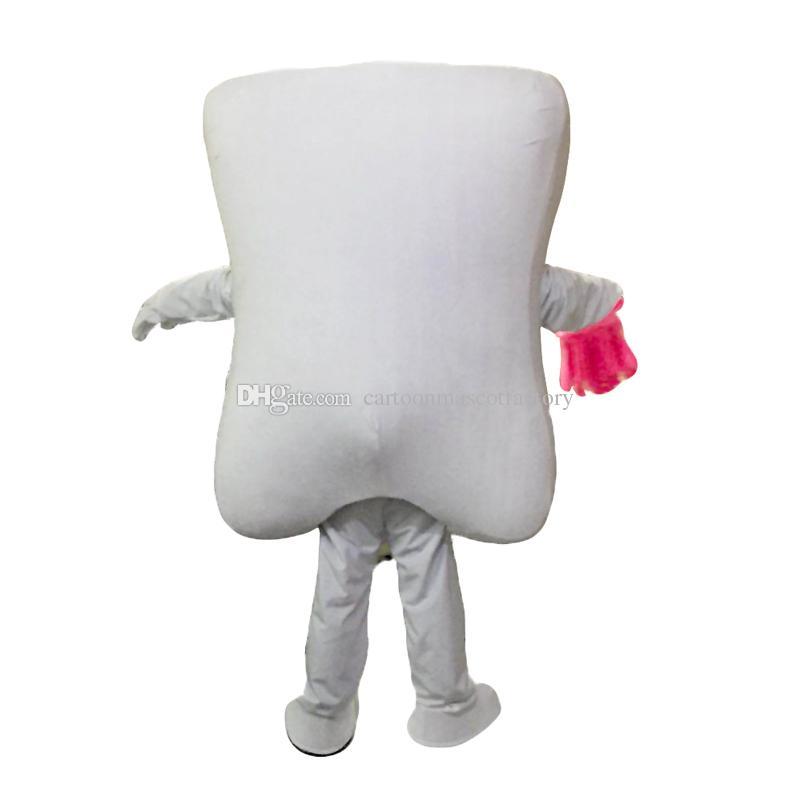 Зубы и синие зубные щетки талисман костюмы мультипликационный персонаж взрослый Sz 100% реальная картина 019