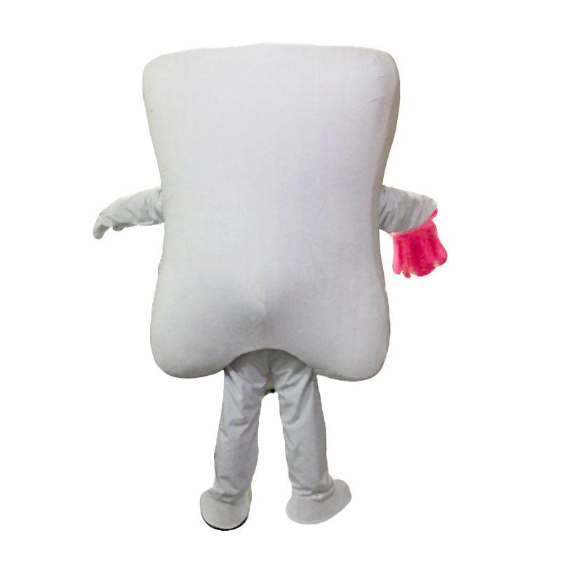 Zähne und blaue Zahnbürsten Maskottchen Kostüme Zeichentrickfigur Erwachsene Sz 100% Echt Bild 019