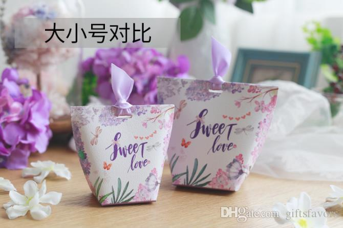Unique paper candy boxes favor holders wedding event party package wholesale new arrival