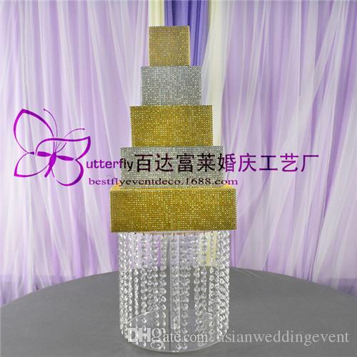 1 camada de Cristal Asiático bolo de casamento carrinho Sobremesa torres de cupcake de cristal para Casamento Mesa Centerprise