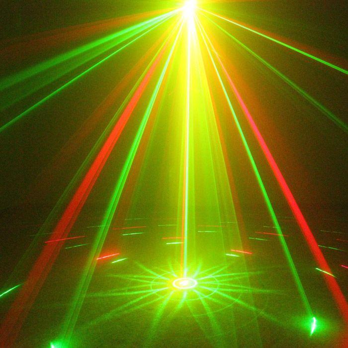Mini 9 Big Patterns RG Laser Projector Stage Equipment Light 3W Blue LED Mixing Effect DJ KTV Show Holiday Laser Stage Lighting L09RG