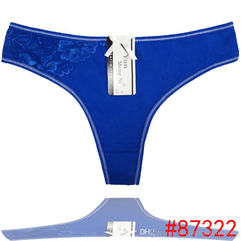 1abc8d42a Pack of Embroidery Girl G-String Low Rise Lace Cotton Thong Sexy ...