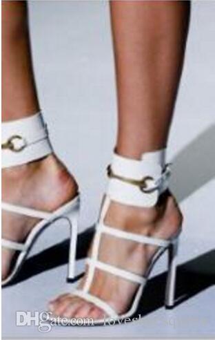 Doux Fuchsia Brillant En Cuir Verni Grand Carré Boucle De Sandales À Bande Étroite Des Femmes Élégantes Chaussures Habillées Pour La Fête De Mariage Femmes Sandales