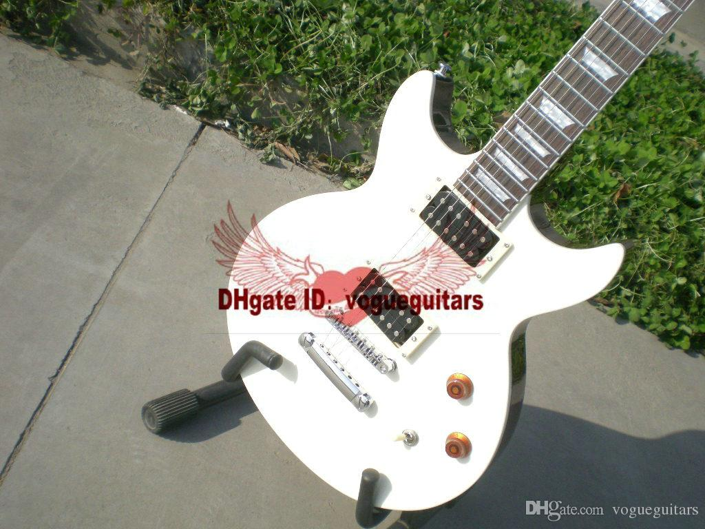 Factory outlet neueste benutzerdefinierte weiß Die e-gitarre kostenloser versand nach wunsch benutzerdefinierte farbe