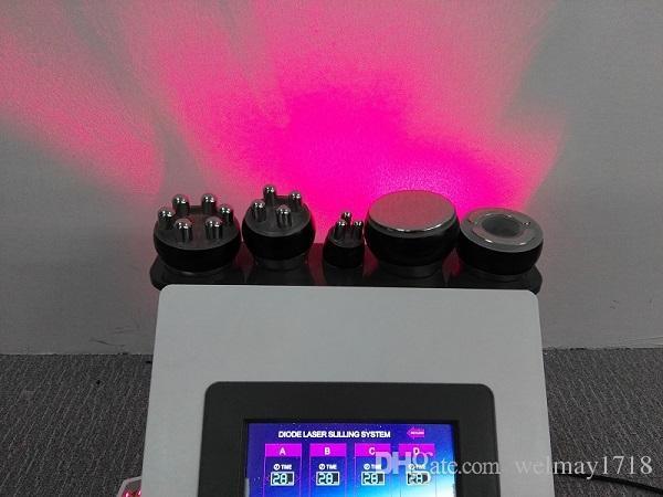 6 in 1 lipo Laser Vakuumhebers hintern Ultraschall Kavitation Schlankheitskuren Kavitation RF Facelifting Hautstraffung Kavitation Maschine