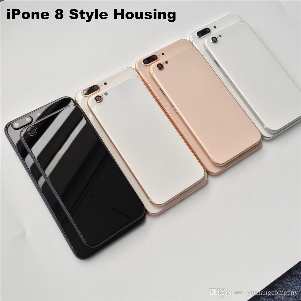 For IPhone 8 Style Housing Full Back Housing Black Metal Housing For IPhone  6s 6s Plus To 8 Plus Style Replacement Back Door Rhinestone Cell Phone  Cases ... d3472b6f20