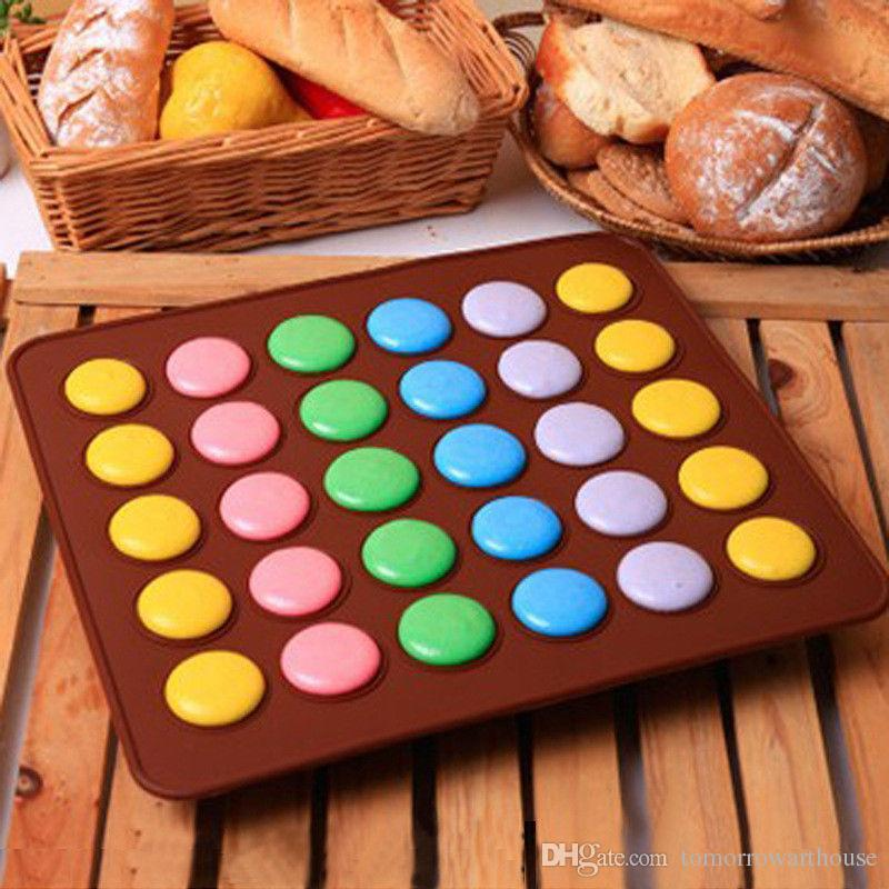 Cottura al silicone Macarons Mat Cake Cookie Chocolate Molds Strumenti di cottura stampi 30 Cavità