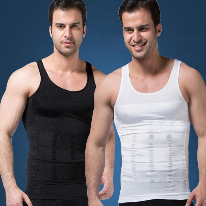 새로운 뜨거운 남자의 섹시 슬리밍 배 바디 셰이퍼 배꼽 지방 열 슬림 리프트 속옷 남자 스포츠 조끼 셔츠 코르 셋 Shapewear Reducers 남자
