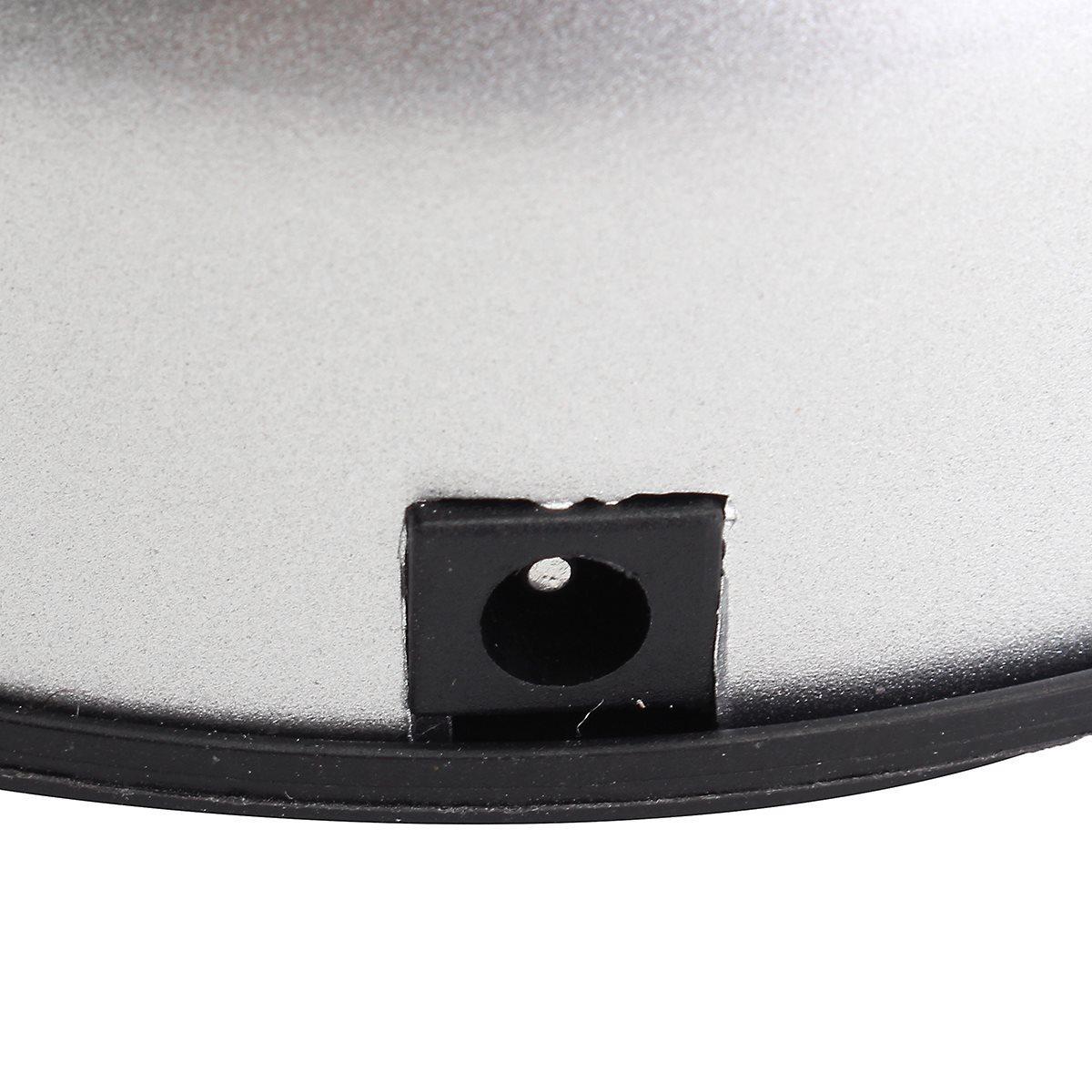 Lampadina a LED rotante in plastica bianca 7 LED Lampadina Supporto base espositore argento espositore gioielli con cristalli di cristallo