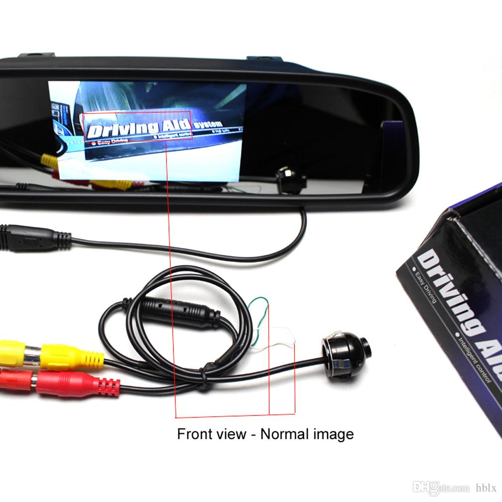 Ayna Görüntü Dönüşüm Hatları CAL_00D ile Mini CCD Gece Görüş 360 Derece Araç Arka Ön Yan Görünüm Yedekleme Kamera