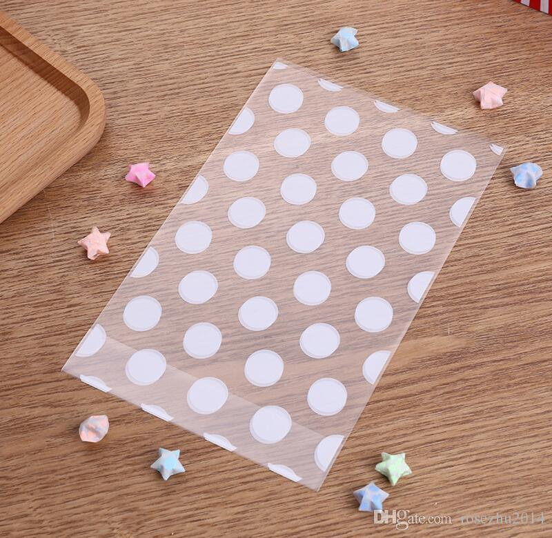 White Stripe And Dot And Star DIY OPP Makeup Gift Package Plastic Bags Event Party Cookie and Candy Packaging Bags
