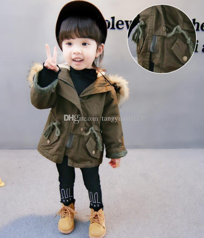 dcecc27a4 Thick Children Winter Jackets Girl Warm Jacket With Fur Baby Boy ...