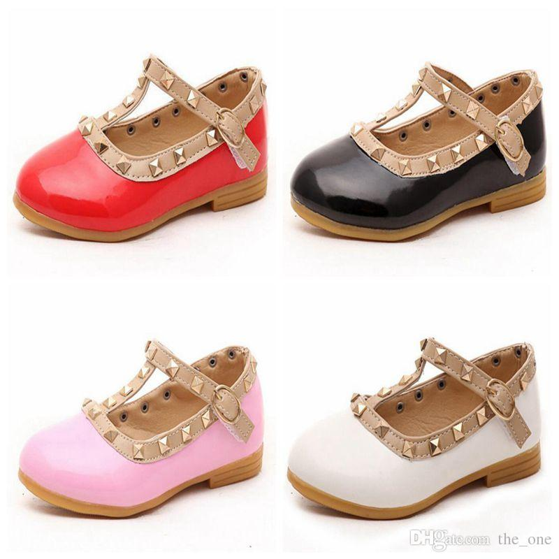 ae1334a67 Children Shoes For Girls Rivets Princess Girl Sandals Kids Leather ...