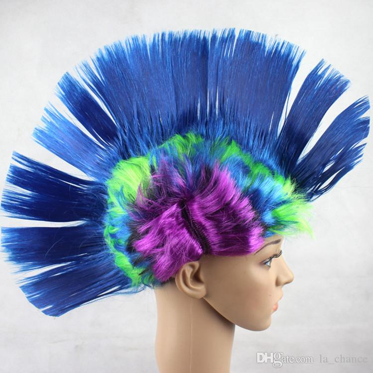 Dropshipping Women Men kids Mohawk Synthetic Hair Fashion Mohican Hairstyle Costume Cosplay Punk Party Wigs for Halloween Christmas