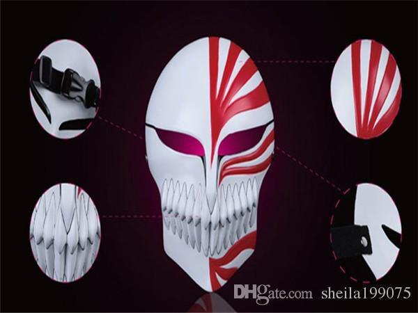 Высокое качество смолы косплей маска комикс и анимация смерть Куросаки Ичиго Hollowification Маска