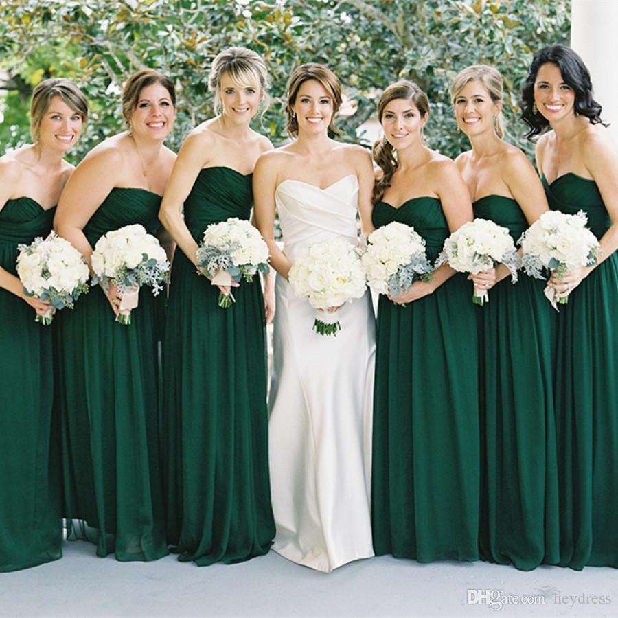 Dark green bridesmaid dresses cheap 2017 country style wedding dark green bridesmaid dresses cheap 2017 country style wedding guest dress sweetheart a line chiffon maid of honor gowns maternity bridesmaid dresses short ombrellifo Images