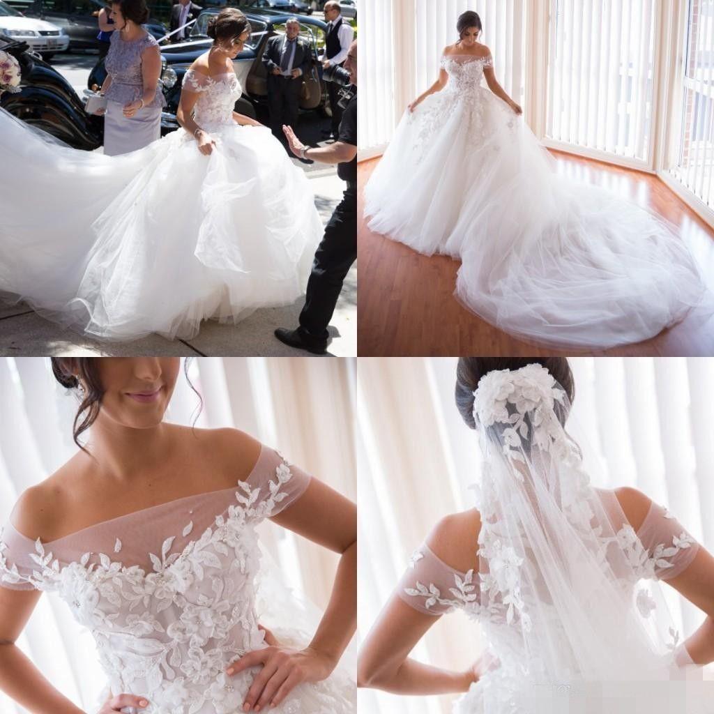 Discount 2019 Royal Gorgeous A Line Steven Khalil Wedding