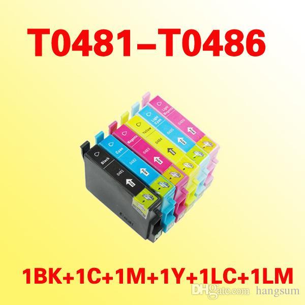 T0481 T0486 Inktcartridge Compatibel voor Epson Stylus Photo RX500 / RX600 / R300 / R300M / R200 / R220 / R320 / R340
