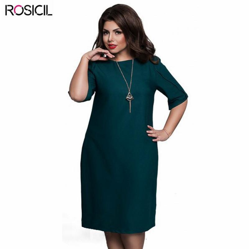 2019 2017 New ROSICIL Brand Plus Size Women Elegant Office Dresses Casual 5XL  Big Size Bodycon Dress Red Blue 6XL Large Size Women Party Dress From ... 56a0cf3429e8