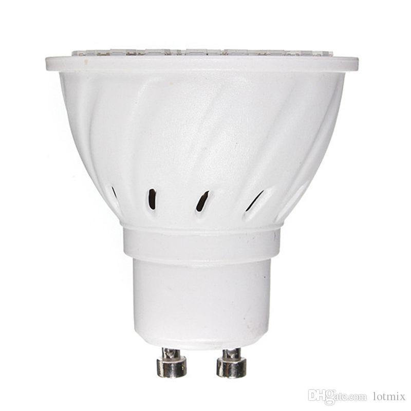 60 Bombilla de luz LED GU10 3W Bombillas para focos 3528 SMD Lámpara de ahorro de energía Bombilla Blanco puro Whtie Iluminación de paisaje 220 V