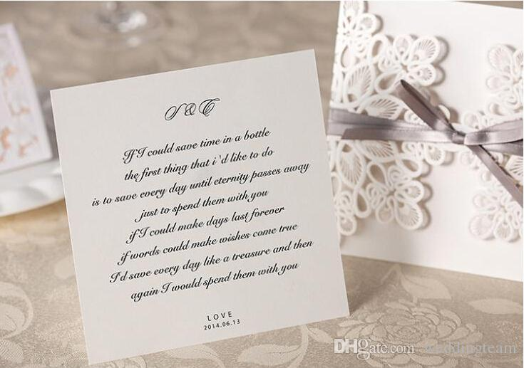Elegant Lace Wedding Invitation Cards Laser Cut Hollow Daisy Flowers Personalized Wedding Invitations Cards With