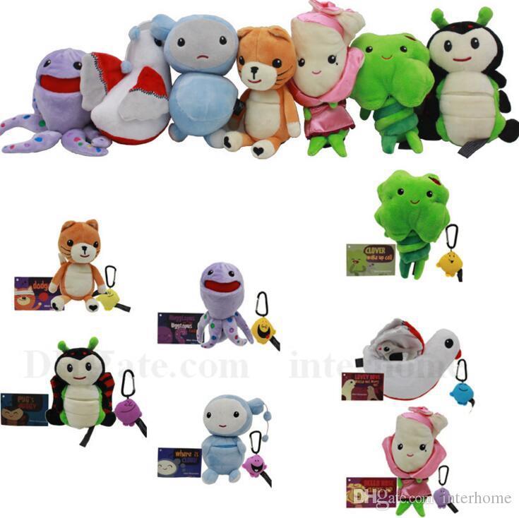 Baby 100% True Animal Clip Hanging Soft Plush Toys