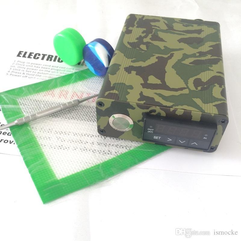 Kit de clavos E dab portátil Sistema de clavos dab eléctrico E D caja dabber electrónica Control PID TC Titanio Cuarzo Clavo Cera hierba seca