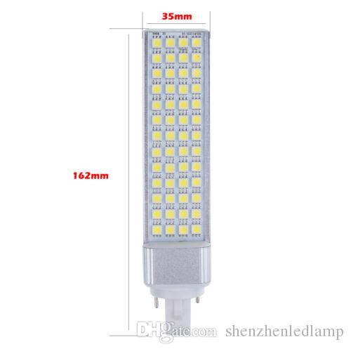 13 W 5050 SMD 52 Led E27 / G24 / G23 led ampul pl lamba Sıcak Beyaz / Doğal Beyaz / Soğuk Beyaz AC110-240V 1300 lümen Fedex / DHL 20 adet / grup