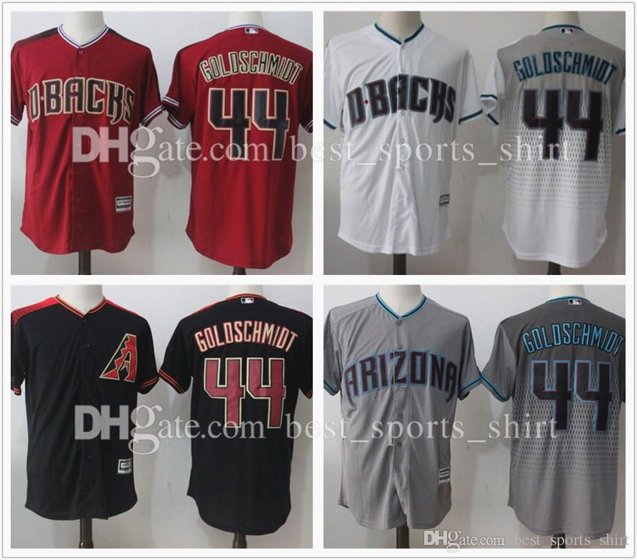 834576d8 ... Jersey Arizona Diamondbacks 44 Paul Goldschmidt Black Red Gray White  Purple Green Mens MLB Cool Base Baseball ...
