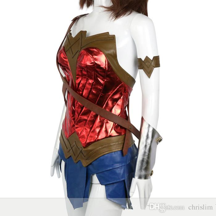 New arrival DC Theme/Movie Wonder Woman Cosplay Princess Diana Costume Skirt + Headband + Belts set