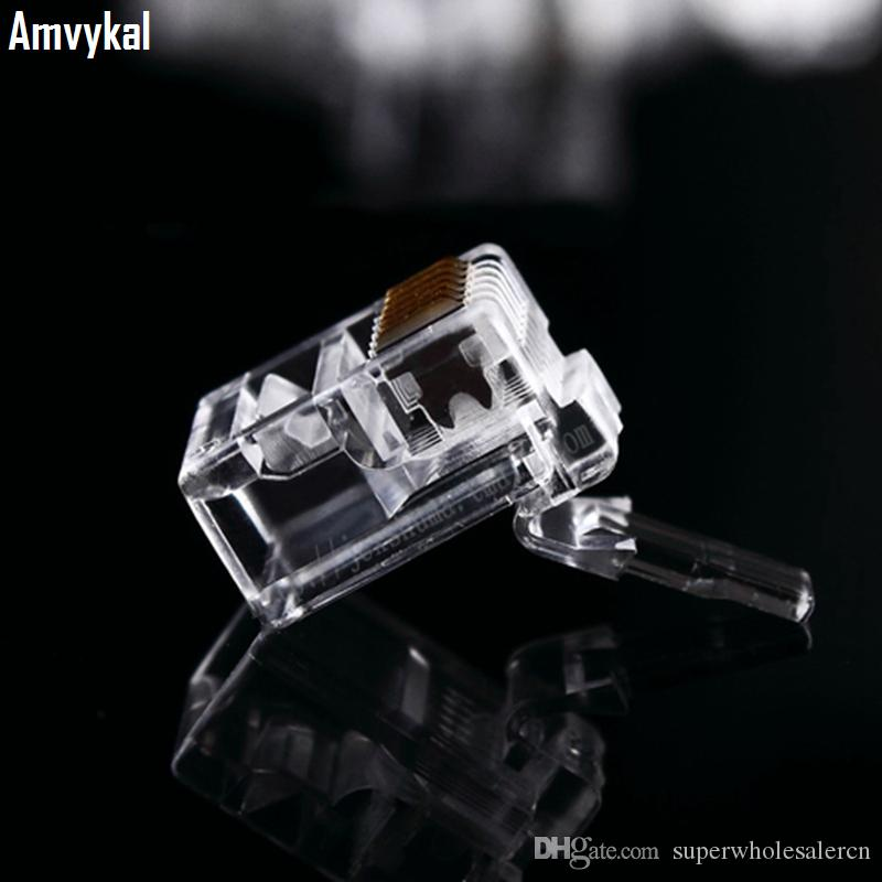 / Qualitäts-RJ12 6P6C RJ11 6P4C 6P2C Modularstecker Telefon Stecker RJ12 6 Pin 6 Kontakte Kristall Leiter Adapter