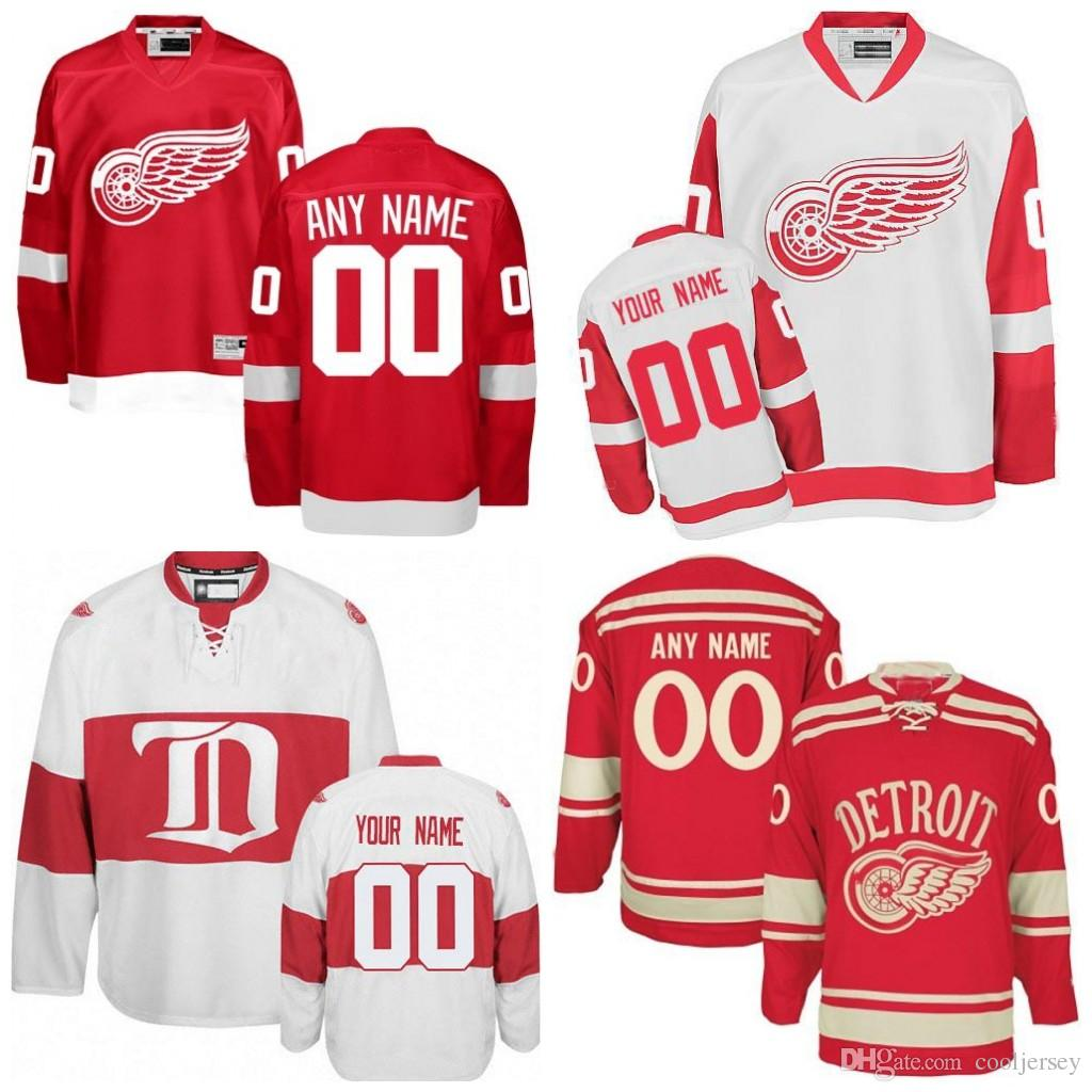 4b9e8795c4e 2019 Custom Men'S Detroit Red Wings Jerseys Authentic Customized Wings  Hockey Jersey Personalized Any Name Any Number Stitched Logos From  Cooljersey