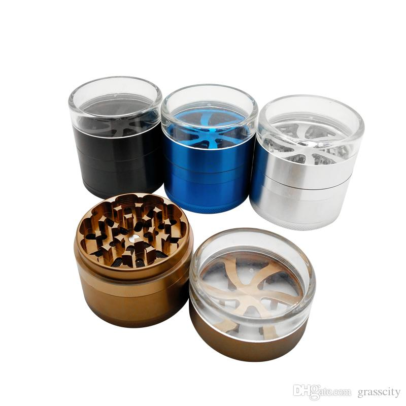Handsome Transparent visibility whirlwind Herbal Herb Tobacco Grinder Spice Crusher Muller Hookah Shisha Accessory Grinder Tool