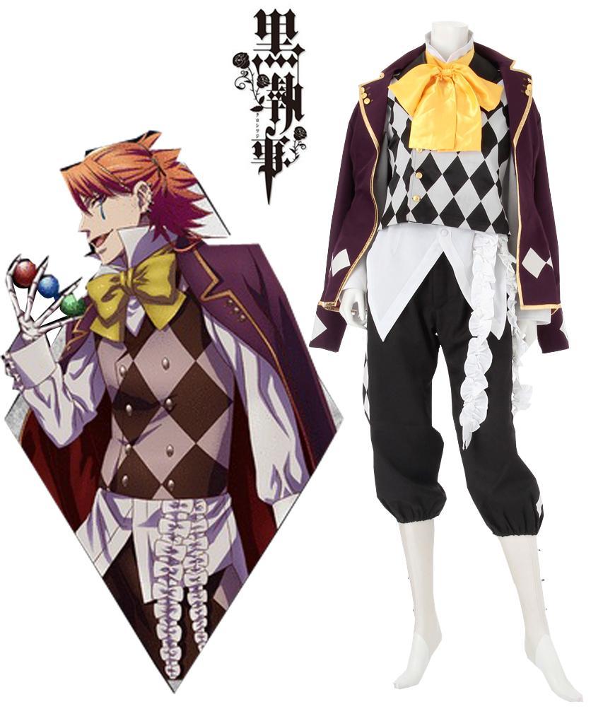 Black Butler Kuroshitsuji Noah S Ark Circus Joker Cosplay Costume