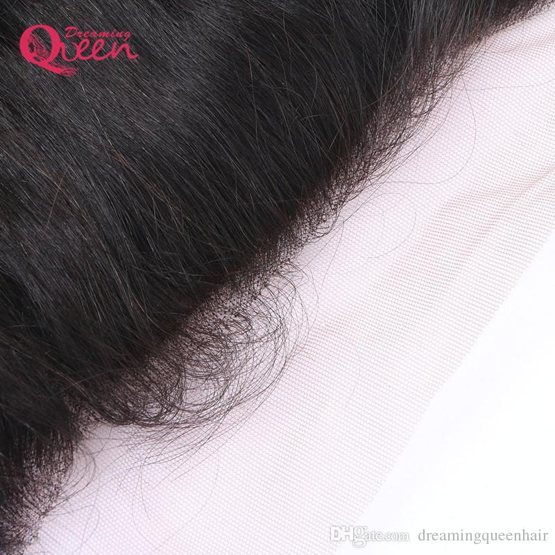 페루 루스 웨이브 실크베이스 레이스 정면 클로저 버진 인간의 머리는 13x4의 귀를 귀에 뜯어 낸다. 무료 세 부분 레이스 클로저