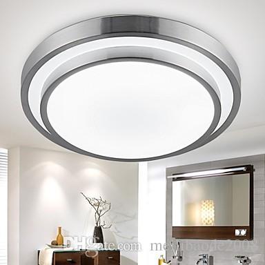 2019 Aluminum PVC Flush Mount Lights LED Diameter 35cm 18W Bathroom Kitchen  Light Round Simple Modern Ceiling Lamps Lighting Downlight From ...