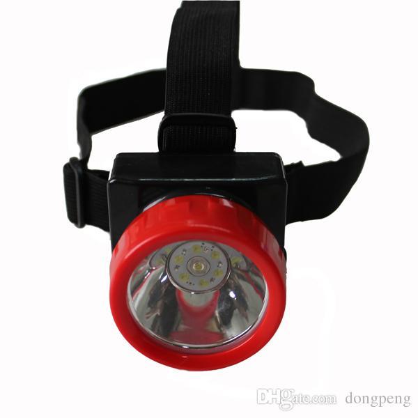 Envío gratis LD-4625 LED Miner Safety Cap Lámpara / LED Mining Light Alta seguridad con cargador de coche