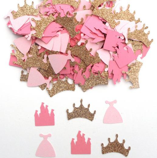 cheap custom glitter princess themed confettis wedding table scatters christmas bridal shower bachelorette party decorations halloween party decoration