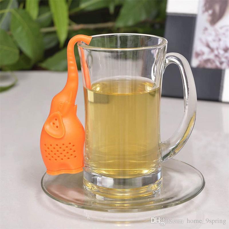 Silicone Tea Infusers Cute Cartoon Elephant Shape Tea Strainer Food Grade Silicone Tea Bag Filter