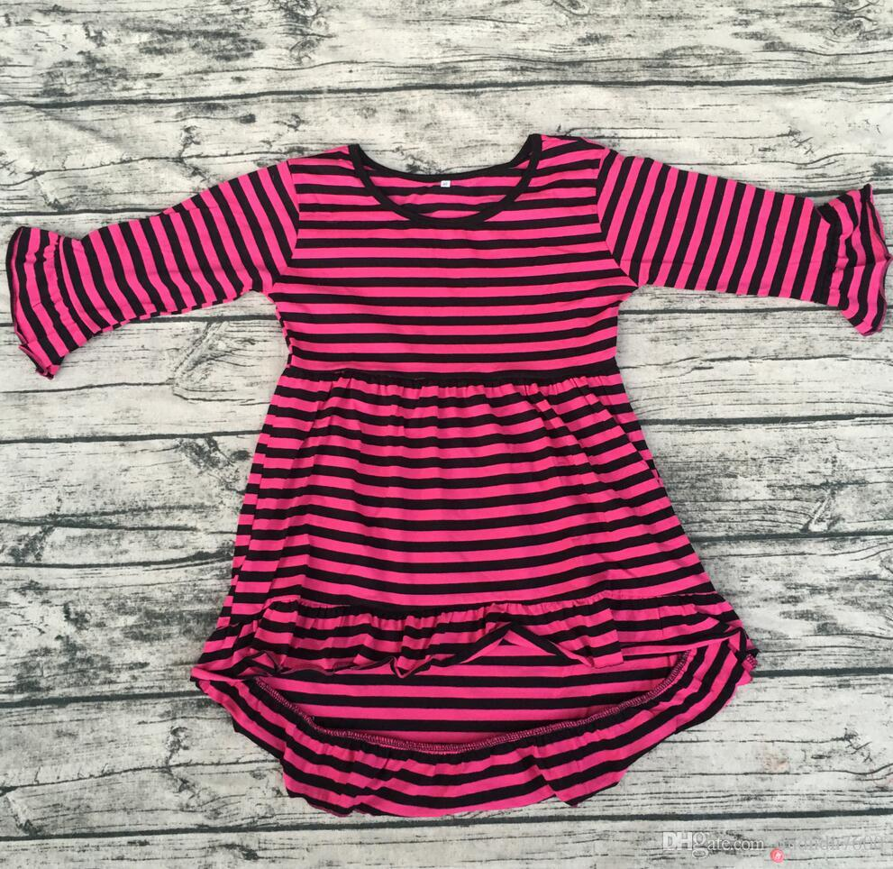 kids high low dress Wholesale Children's Boutique Clothing Girls' Cotton long sleeve tunic