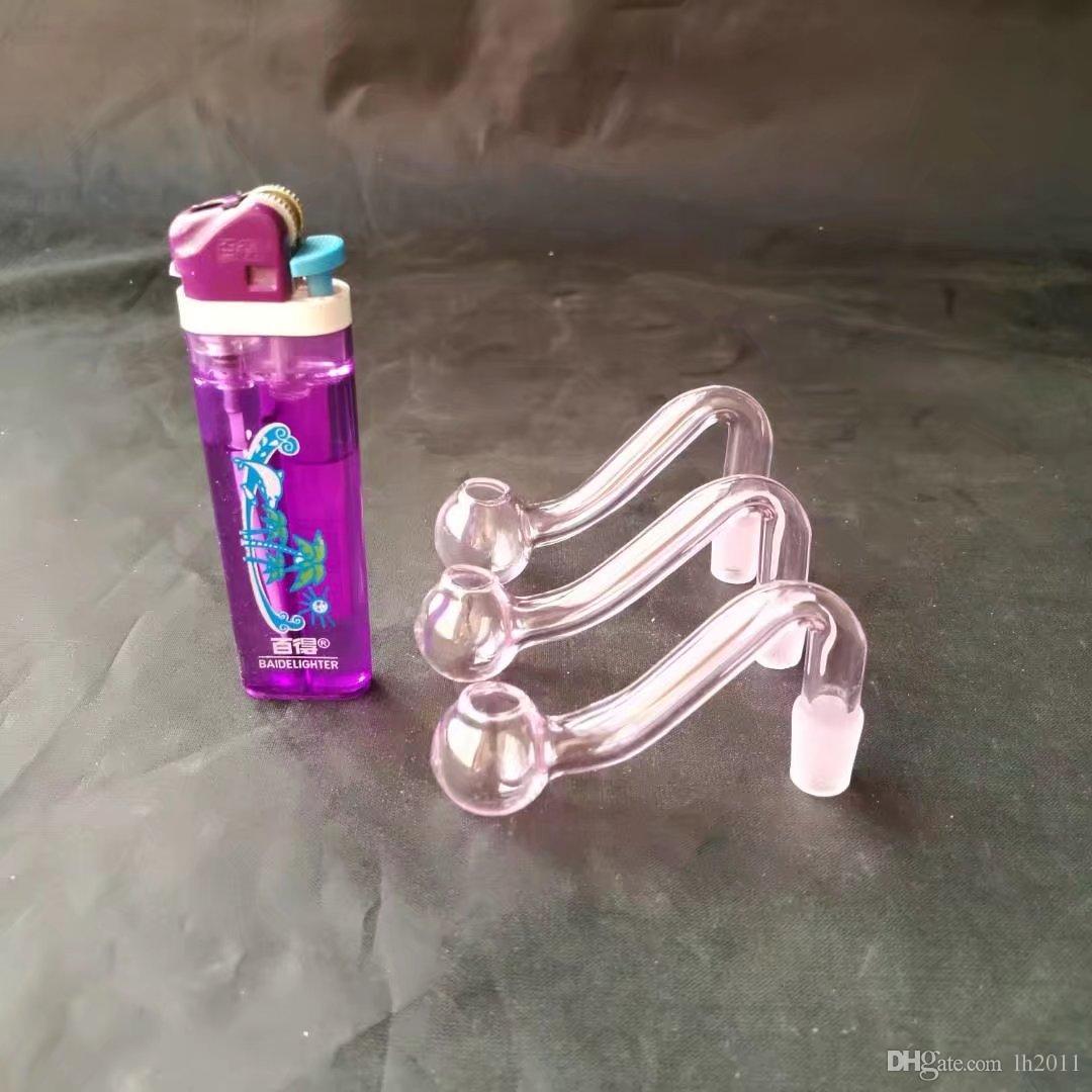 Nueva olla rosada, bongs de vidrio al por mayor Quemador de aceite Tubos de vidrio Tubos de agua Tubos de vidrio Plataformas de aceite Fumar Shoping gratis