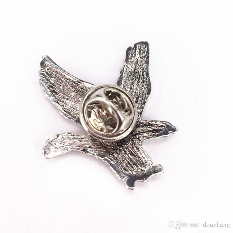 Wholesale Unisex Eagle Shirt Brooch Pin Collar Button Stud Brooches Women Men Jewelry