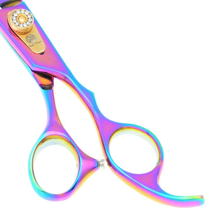 8.0Inch Purple Dragon Professional Pet Scissors for Dog Grooming Sharp Thinning Scissors Clipper Shears Animals Hair Cutting Tools LZS0337