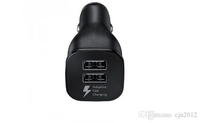 White Black Dual usb ports 9V 1.67A 5V 2A Adaptive Fast charging Usb Car charger adapter for samsung s6 s7 edge note 4 5 gps mp3 mp4