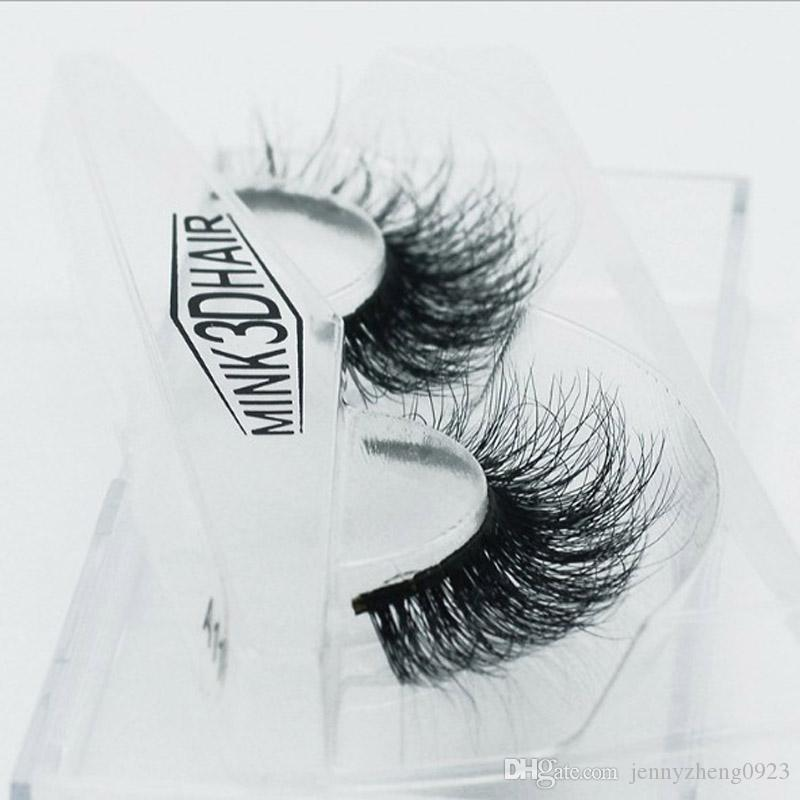 3D Mink False Eyelashes 100% Real Mink Eyelashes cross Handmade Makeup Thick False Eyelashes A-11