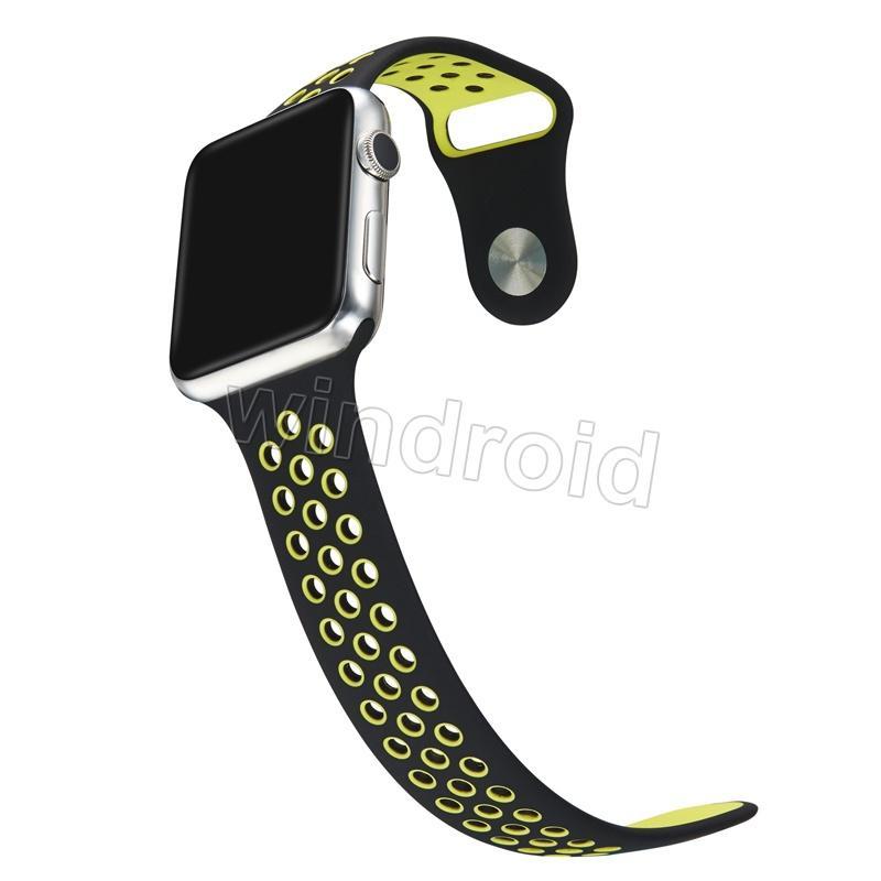 Neue angekommene Sport Silikon mehr Lochbänder Bands für Apple Watch Serie 1/2 Strap Band 38 / 42mm Armband VS Fitbit Alta Blaze Charge Flex