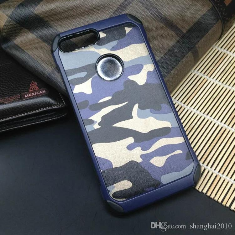 Camouflage PC + TPU Smart Phone Case Back Cover For Iphone 7 Samsung S8 Xiaomi Huawei LG Ipad Asus OPPO Vivo With retail package