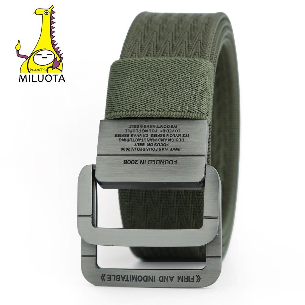 Compre Nueva Llegada Equipo Militar Táctico Cinturón Hombre Clásico Anillo  Doble Hebilla Espesar Cinturones De Lona Para Hombres De La Lona De La  Manera ... a6b27304da60